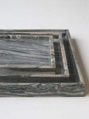 Marmeren Dienblad 50 x 50 x 5 cm 'Midnight Black'