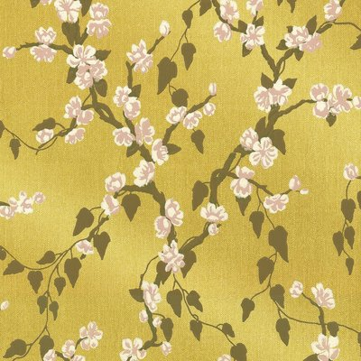 Little Greene Sakura Behang - Yellow Lustre
