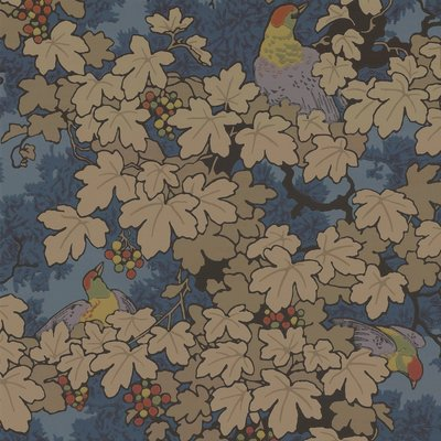 Little Greene Vine Behang - Bleu