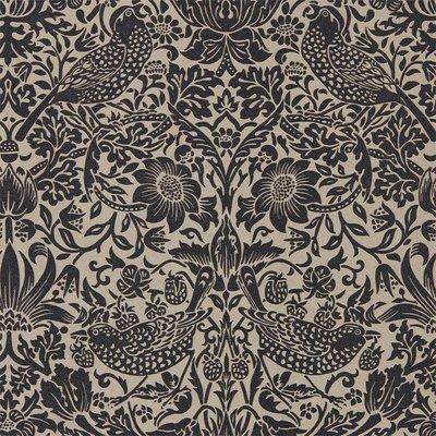 Morris Pure Strawberry Thief 'Gilver / Graphite' behang