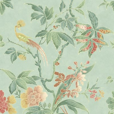 Little Greene Paradise Behang - Aquamarine