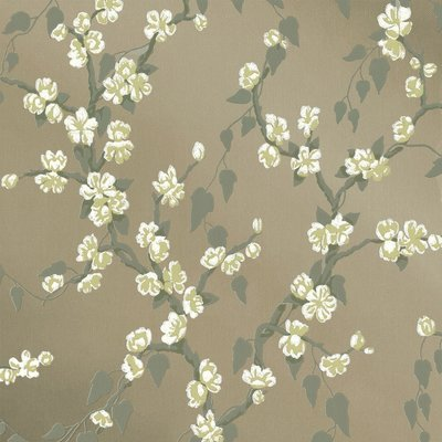 Little Greene Sakura Behang - Metal Lustre