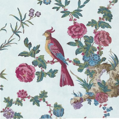 Little Greene Darwin Behang - Azure