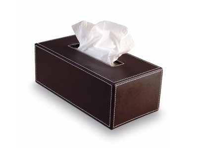 Decor Walther Tissue Box Bruin Leer