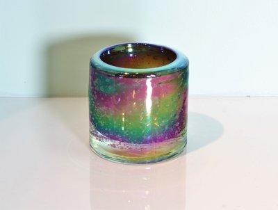 Waxinelichthouder 8 cm Bruin - Iriserend