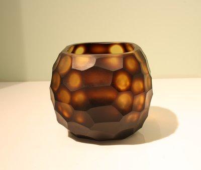Waxinelichthouder Glas Bruin