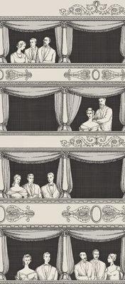 Teatro Behang Fornasetti 2 Wit Zwart