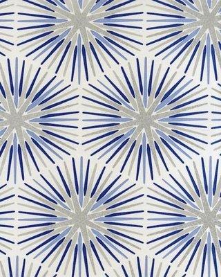 Spark behang Blauw