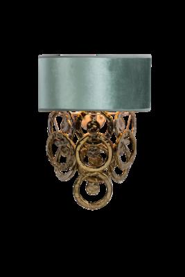 Lumière Wandlamp Glasschakels 2-Laags met glazen ringen goud