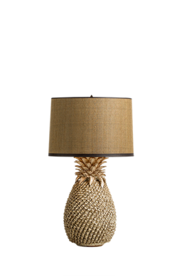 Ananaslamp Lumière chique crème tafellamp