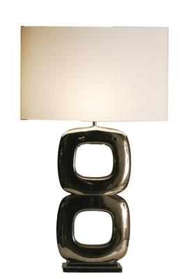 Tafellamp Due Quadrato Maxime Glans Nikkel