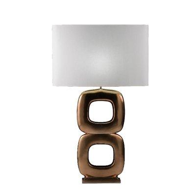 Tafellamp Due Quadrato Maxime Goud Brons