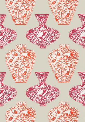 Vazen Behang Thibaut - Imari Vase