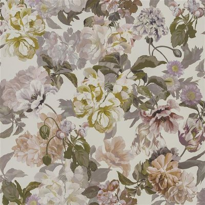Bloemenprint Behang Delft Flower - Designers Guild