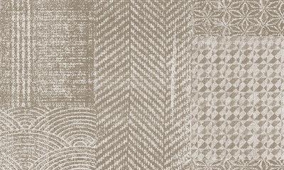 Arte Flamant Patchwork Behang – Caractère