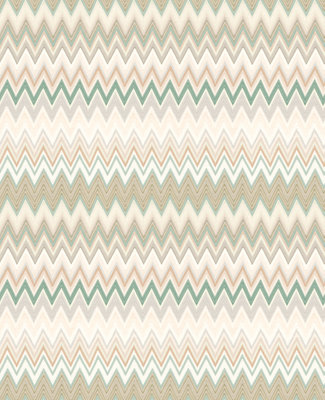 Missoni Zigzag Behang Multicolore