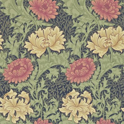 Morris & Co Behang Chrysanthemum - William Morris