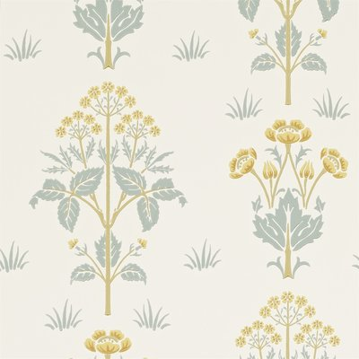 Morris Meadow Sweet Behang - Gold / Slate