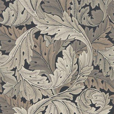 Acanthus Behang William Morris - Charcoal / Grey