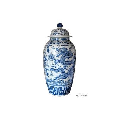 Chinese Porseleinen Vaas Met Draken