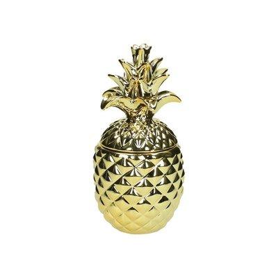 Gouden Ananas Pot Van Porselein