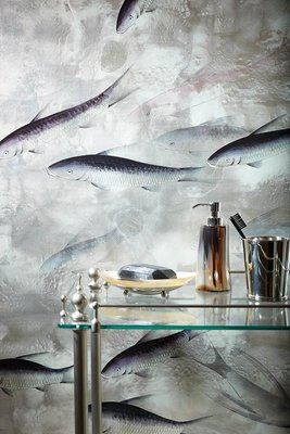 Fishes De Gournay Behang Japanese and Korean Collectie