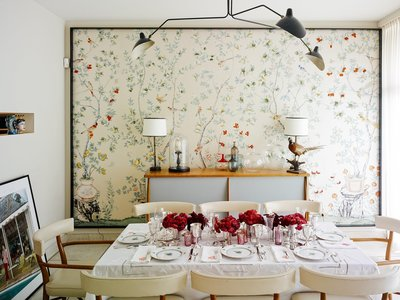 Jardinieres and Citrus Trees De Gournay Behang Chinoiserie Collectie
