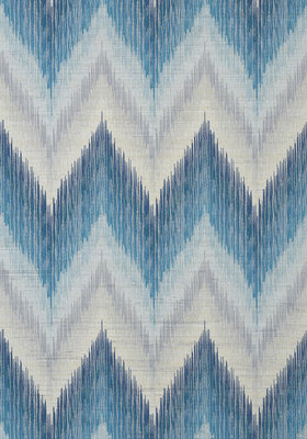 Piedmont Behang Thibaut Chevron Blue