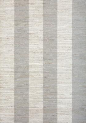 Thibaut Crossroad Stripe Behang - Grey