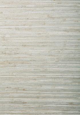 Raffia Behang Thibaut Canyon - White Silver