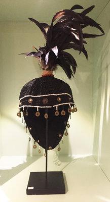 Hoofddeksel Veren Decoratief Kralen - Zwart