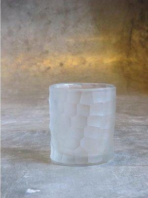 Waxinelichthouder Wit Glas