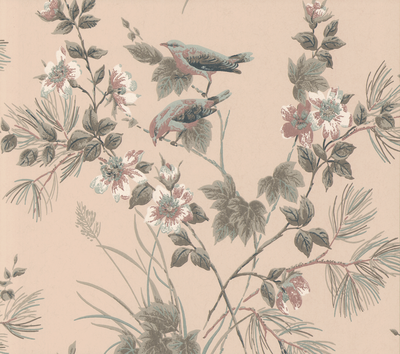 Rosemore Behang 1838 Wallcoverings - Pink