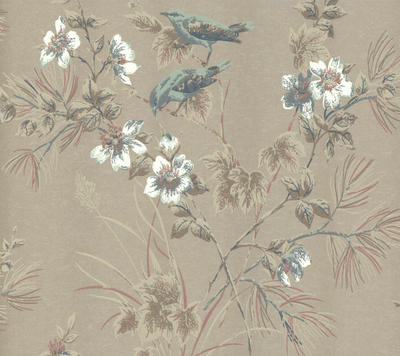 Rosemore Behang 1838 Wallcoverings - Taupe