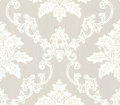 1838 Wallcoverings Barok Behang Hampton - Grey