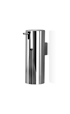 Chromen Zeepdispenser Rond Decor Walther Wandbevestiging