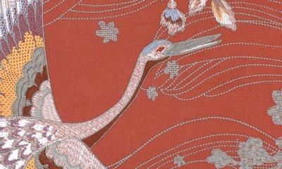 Kraanvogel Behang Crane ARTE