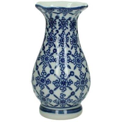 Chinees Porseleinen Vaasje - Blauw / Wit