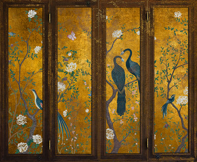 Edo Screen Gold Behang