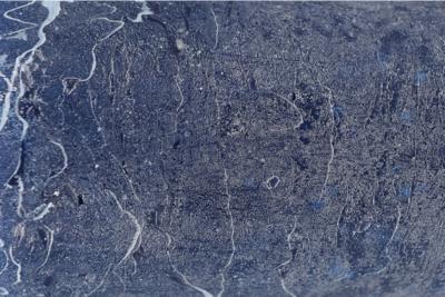 Blauwe Stompkaars Rustiek