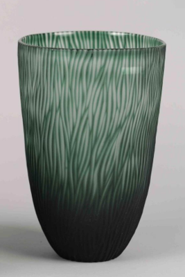 Groen Geribbelde Glazen Vaas