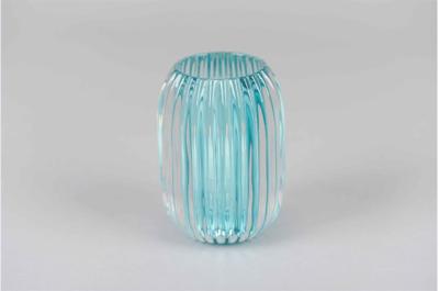 Waxinelichthouder Aqua Blauw Glas - Ø 9,4 cm x H 13 cm