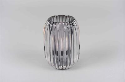 Waxinelichthouder Grijs Glas - Ø 9,4 cm x H 13 cm