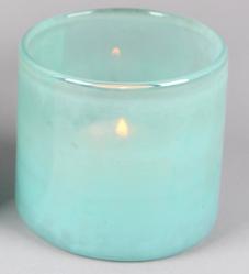 Glazen Windlicht Mint - Ø 8 cm x H 8,5 cm