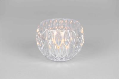 Glazen Waxinelichthouder Transparant - Ø 12,5 cm x H 9,5 cm