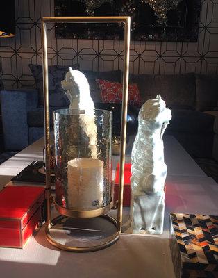 Windlicht Glas Goud