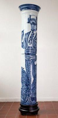 Chinees Porseleinen Zuil Hoogglans Glazuur