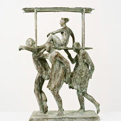 Bronzen Beeld Caribisch Carnaval Saskia Pfaeltzer