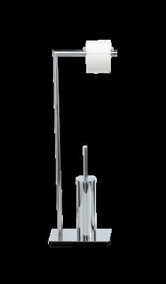 Decor Walther Toiletborstel en Toiletrolhouder Vrijstaand STRAIGHT 6 Chroom