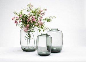 5 Mooie Vazen : Luxe vaas xl glas smoke ontdekken luxury by nature